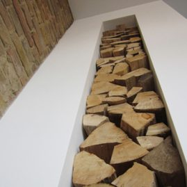 attic conversion residential fireplace fire wood