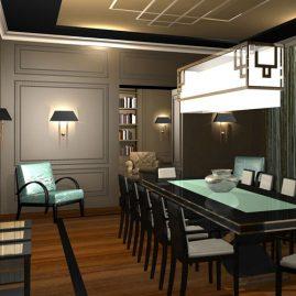 private Bar Design 3d rendering