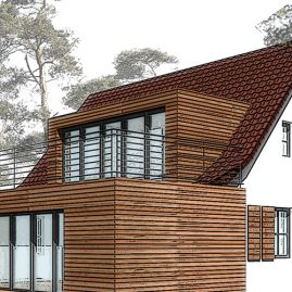 3d Rendering holiday house residential conversion of a family house