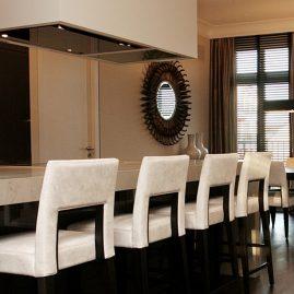 luxury apartment mirror kitchen