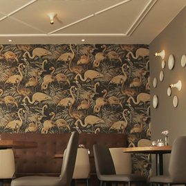 restaurant Friedrich flamingo wallpaper
